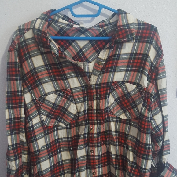 Maurices Tops - Red flannel